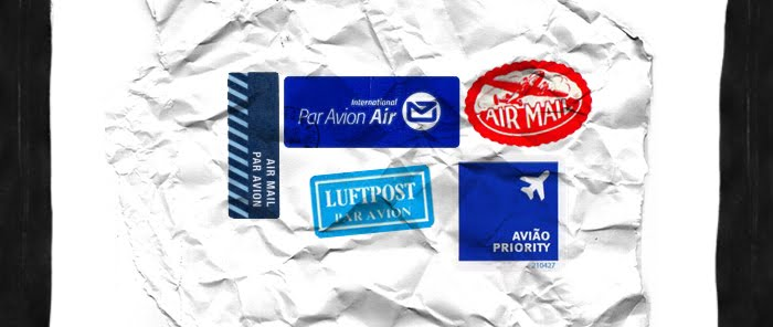 Mail.Post. Airmail labels