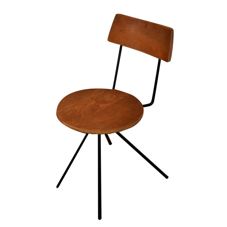 cherner iron and maple chair