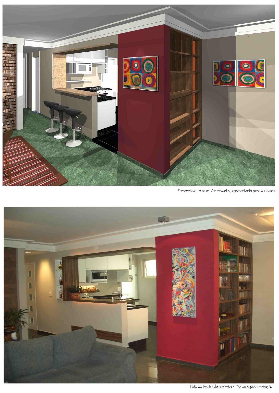 de obras: Projeto e execução de reforma de apartamento com cozinha #A02F2B 1139 1600