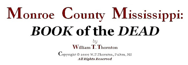 Monroe County Mississippi: BOOK OF THE DEAD