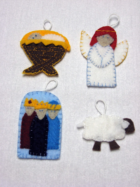 Craft with confidence the first wave of advent ornaments for Sheep christmas ornament craft