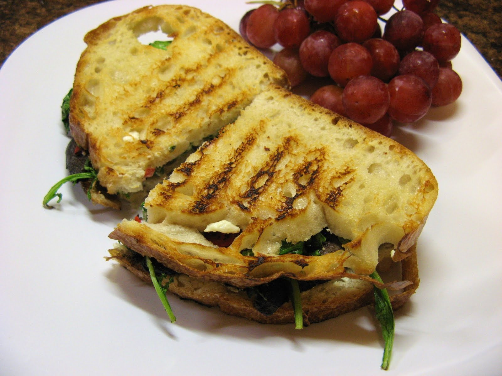 The Well-Fed Newlyweds: Grilled Portobello Paninis