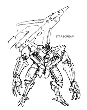 Transformers starscream movie for Transformers coloring pages starscream