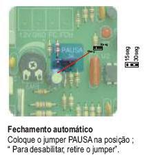 mudar portão eletrônico rossi de manual para automático