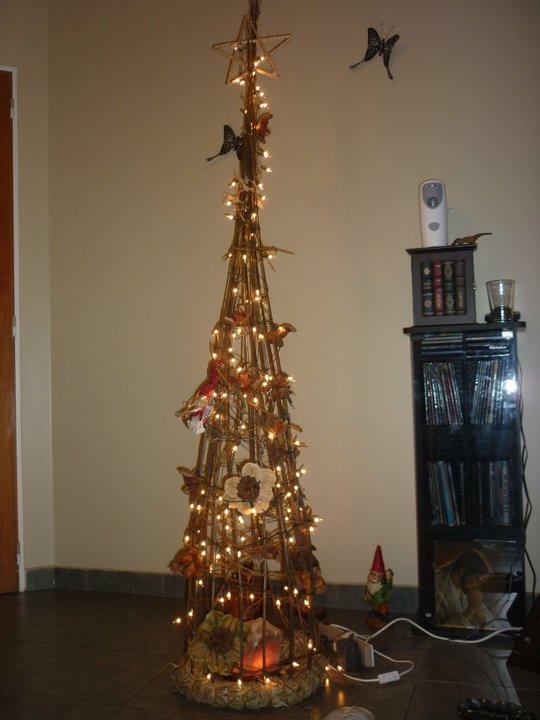 Vivir Con Alas Arbol De Navidad Artesanal Con Flores Secas - Arbol-de-navidad-artesanal