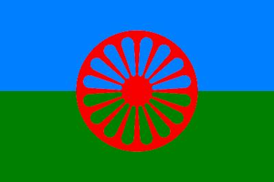 Bandeira romani - O styago le romengo - Criada em 1933 pela Uniunea Generala a Romilor din Romania