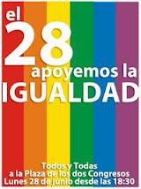 Marcha a favor de la Ley de Igualdad