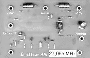 EMETTEUR à 27 MHz EN MODULATION D'AMPLITUDE