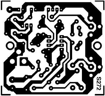 Dessin, à l'échelle 1, du circuit imprimé de l'émetteur TV 1 mW