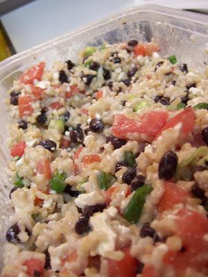 The Healthie Foodie: Black Bean and Feta Salad