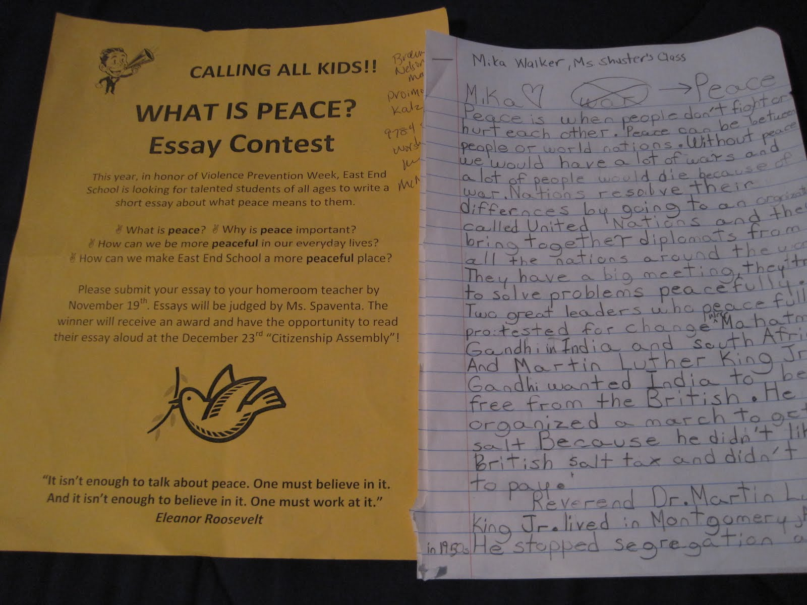 short essay on peace for kids
