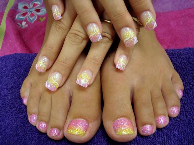 purple pinkie nail salon heavy