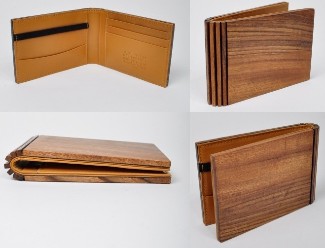 a man of style findings maison martin margiela wood wallet. Black Bedroom Furniture Sets. Home Design Ideas
