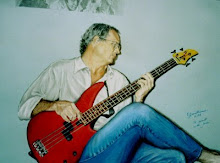 Pastel of my husband Walt playing his bass