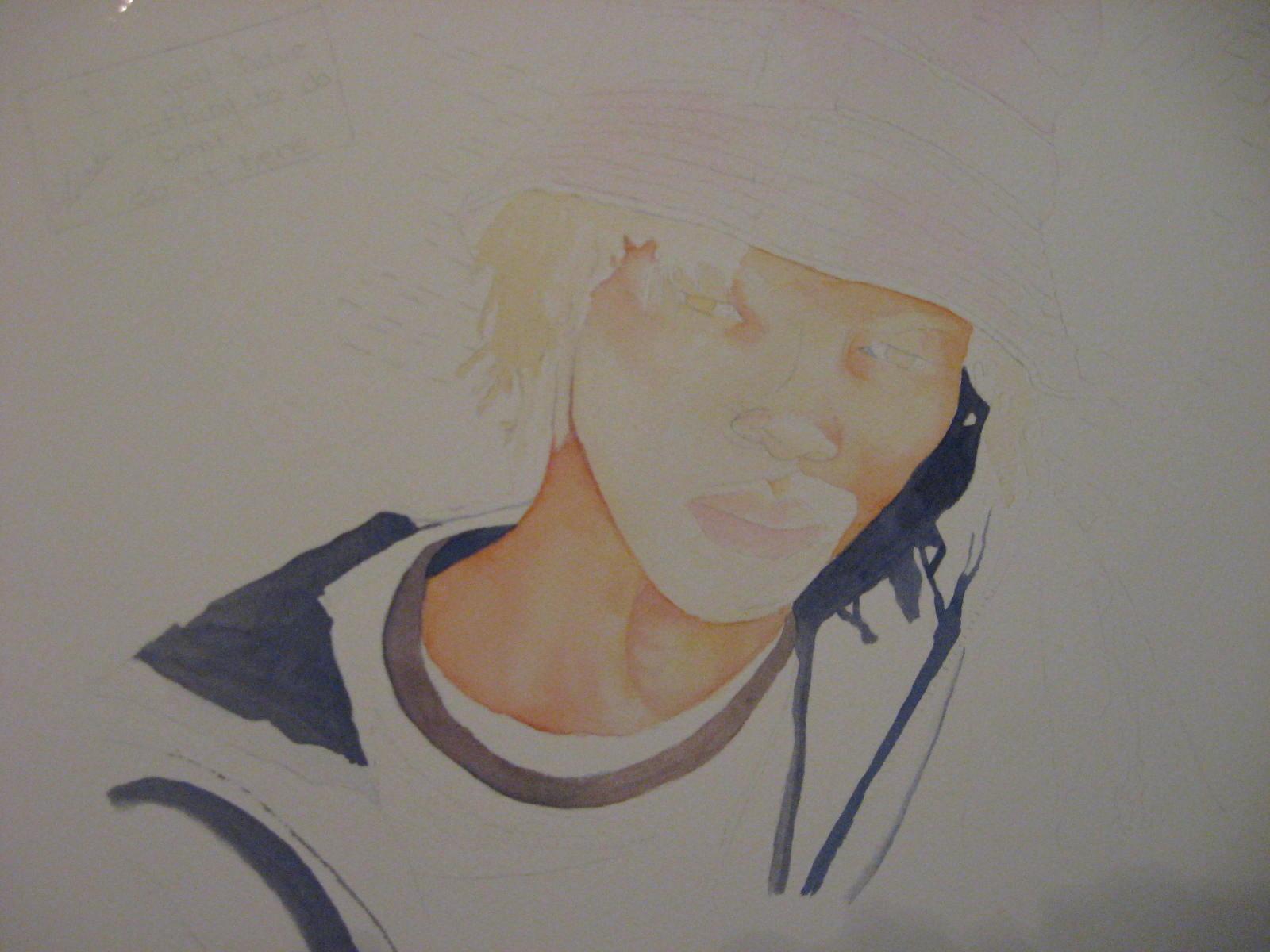 hanging out watercolor portrait tutorial