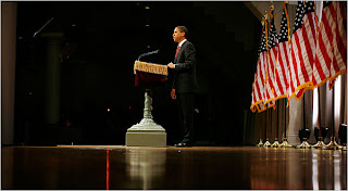Sen. Barack Obama spoke about the economy at Cooper Union in New York City