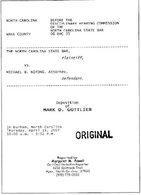Deposition of Mark D. Gottlieb, April 19, 2007