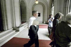 Nifong leaving bar hearing, day 1
