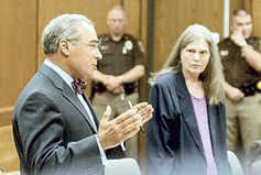 Robert Zaytoun (left), who prosecuted the Nifong ouster petition. Betty Tenn Lawrence, right, represented the petitioner.
