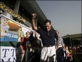 Mitt Romney wins straw poll