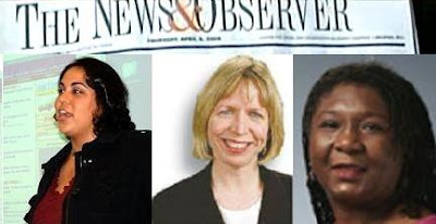 Samiha Khanna (crime reporter), Melanie Sill (executive editor), Linda Williams (managing editor)