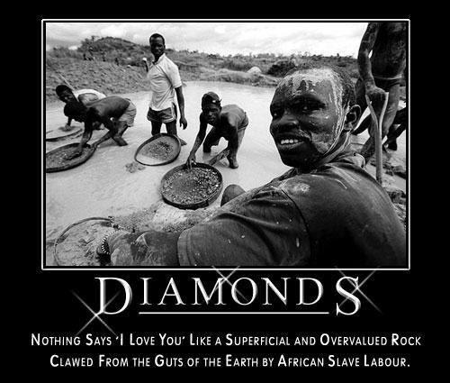 African diamonds: clawed from the guts of the earth by slave labor