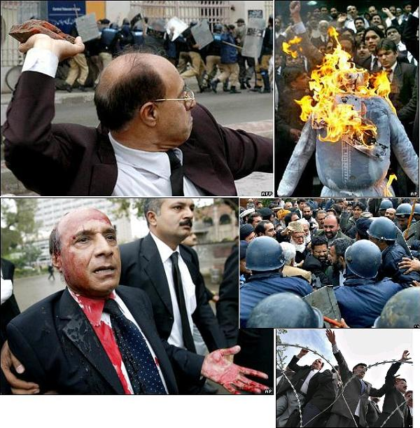 Pakistani lawyers riot