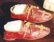 Red Papal shoes of Pope Pius VII (1808)