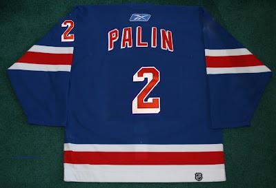 RangerPundit: Sarah Palin, #2 hockery jersey for NY Rangers