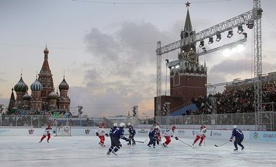 Jaromir Jagr's team wins KHL All-Star Game - Red Square, Moscow