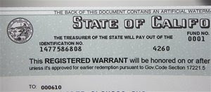 California Registered Warrants (IOUs)