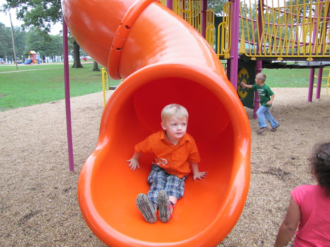 Kaden in the Slide