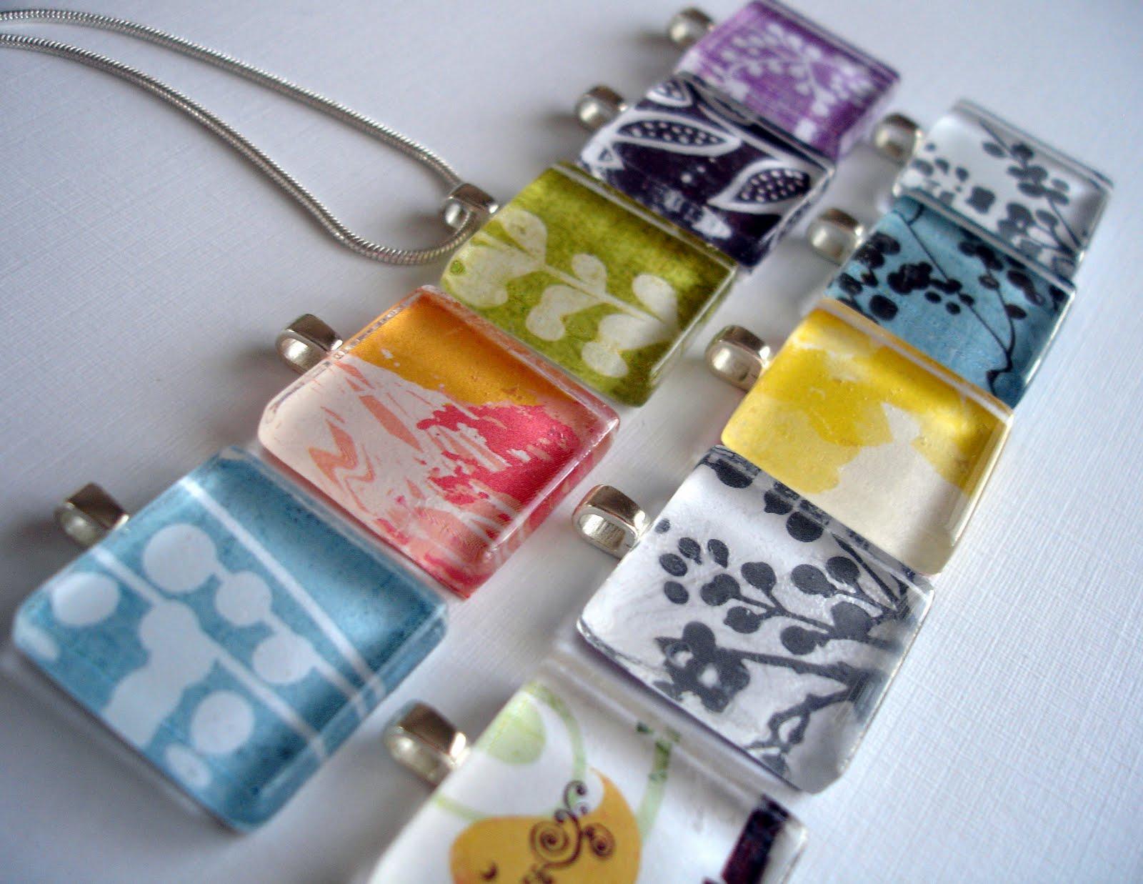 Pretty lil posies glass tile pendants glass tile pendants aloadofball Image collections