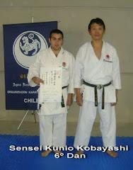 Sensei Kunio Kobayashi 7º Dan, Junto a Sensei Juan Acevedo