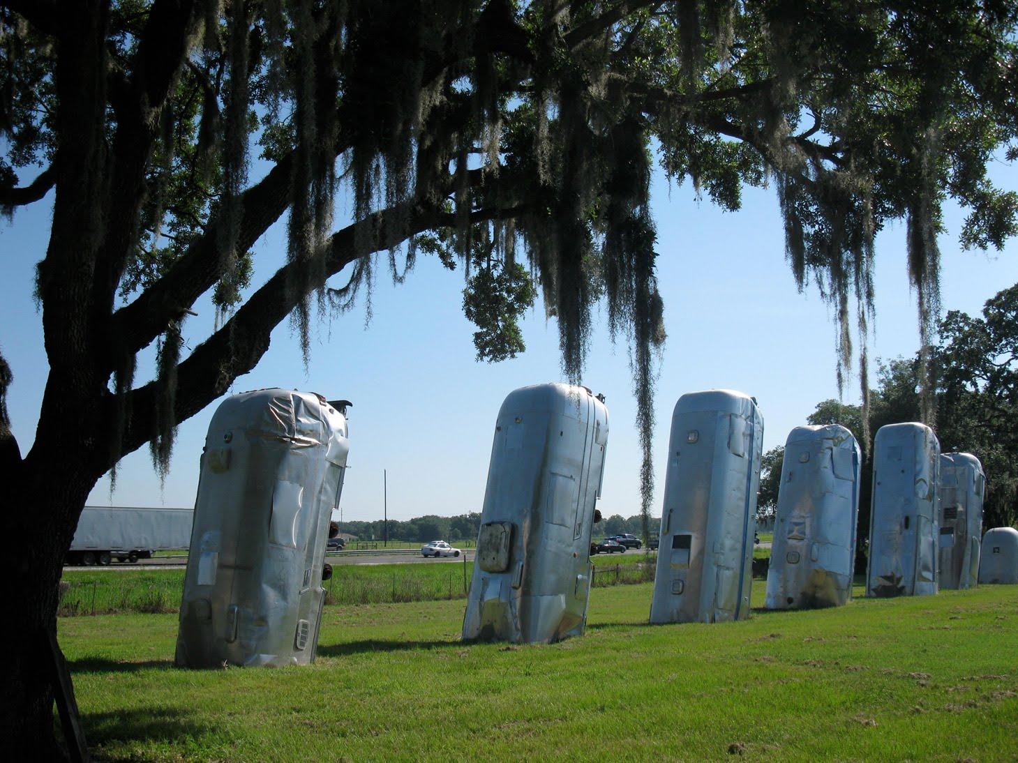 Cadillac Ranch Annapolis Eccentric Roadside Field Of 39streams Dover Florida39s Airstream