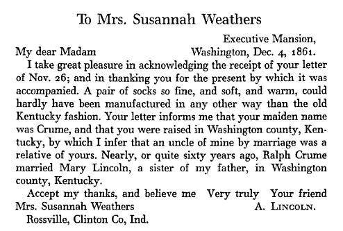 how id love to see the original letter abraham lincoln had received from susannah on 26 nov 1861 and to see this original handwritten letter from abraham