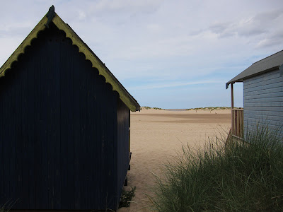 Norfolk beach huts. Photograph by Tim Irving