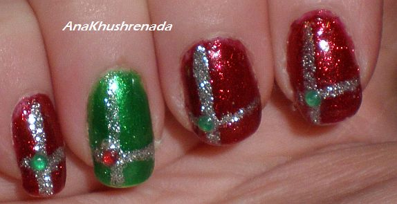 Peace Love And Bulletproof Marshmellows Easy Christmas Nails