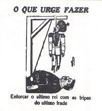 """Cartum anarquista publicado em 1916 no jornal """"A Lanterna"""""""