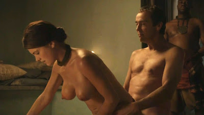 Another Lucy Lawless Nude Scene From Spartacus With Hot Slave Girls
