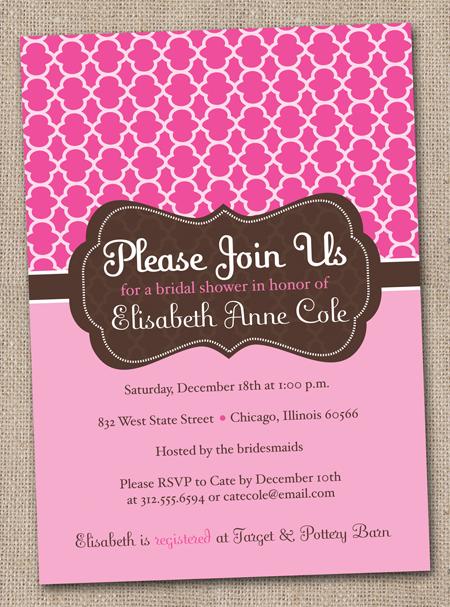 New Bridal Shower Invites