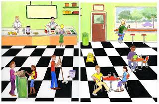 Illustration in a cafe ©2012 Sylvia Liu
