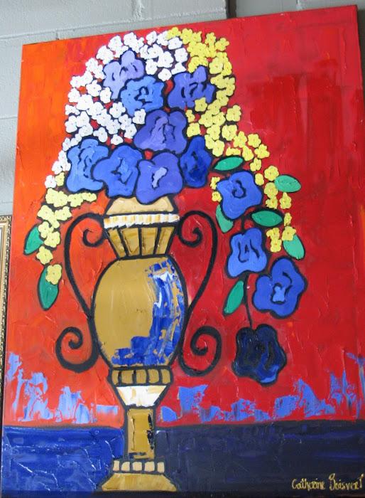 Rouge vibrant 30 x 40_Atelier Normand Boisvert