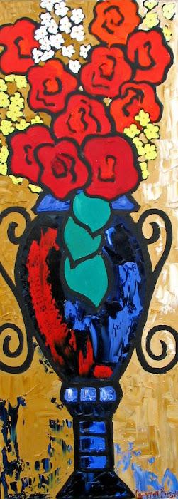 Vase bleu 15 x 40_Vendu