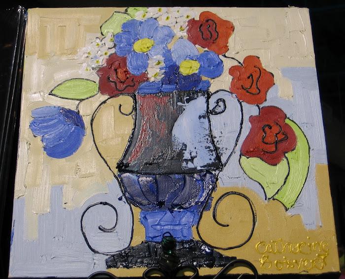 Fleur au vent 12 x 12_Vendu