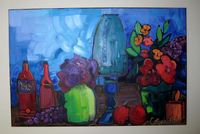 Bleu Blues 24 x 36 _Galerie Michel Boisvert