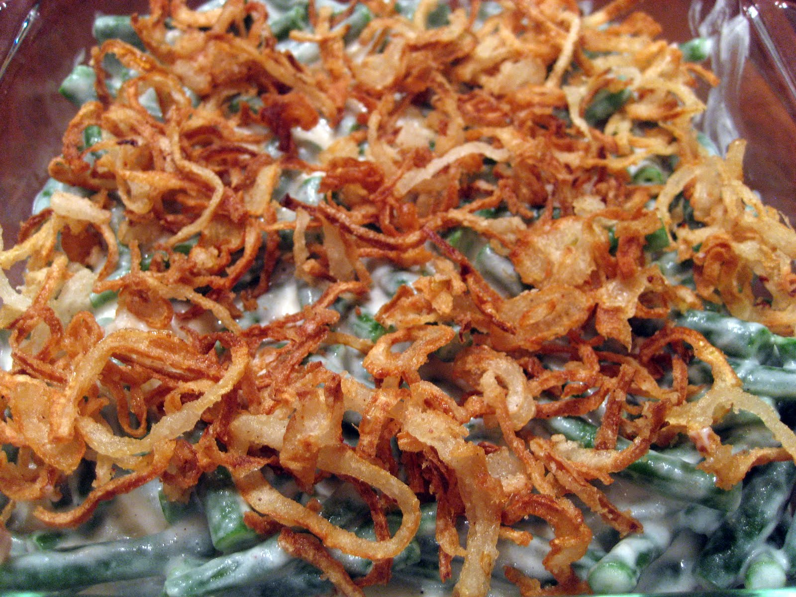 Top with the rest of the fried onions and bake for another 5 minutes.