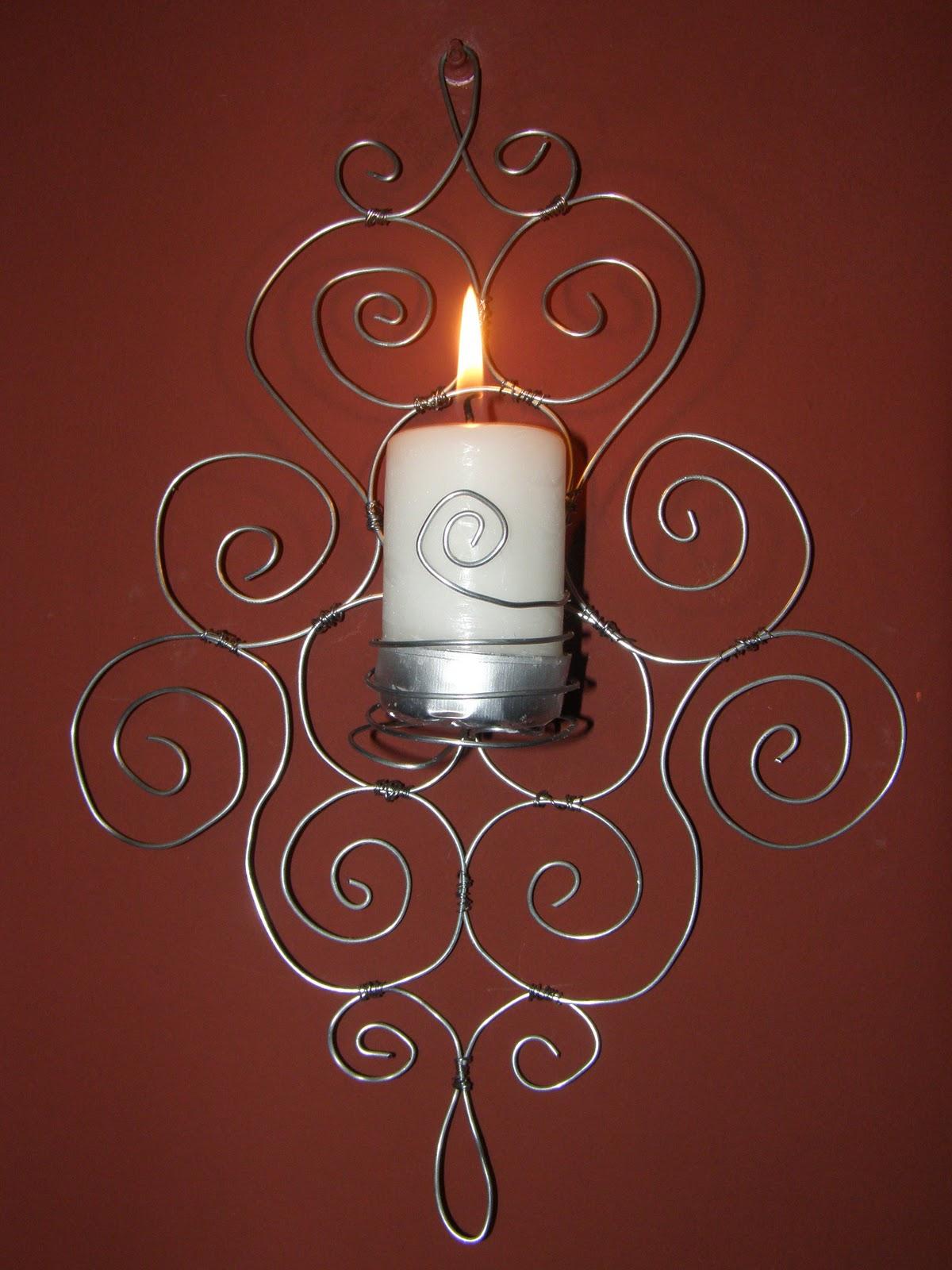 i deasara candelabro de pared con alambre