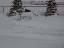 Not Going Anywhere Soon!  We got Caught in the WY Blizzard...Yep, That's Our Van...:)