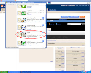 Colocar um vídeo na barra lateral do blog